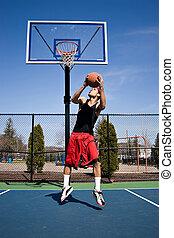 Basketball Reverse Dunk