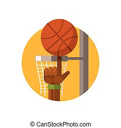 Basketball Round Sticker