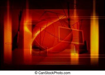 basketball, row, spin
