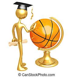Basketball Scholarship - 3D Concept And Presentation Figure