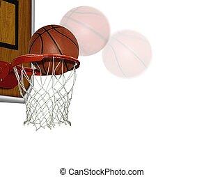 Basketball score shoot over white