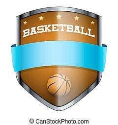 Basketball Shield badge.