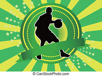 basketball silhouette background