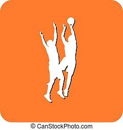 basketball silhouette vector