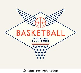 Basketball slam dunk is a vector illustration about sport