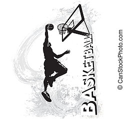 Basketball slam jam - basketball vector illustration for ...