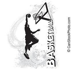 Basketball slam jam - basketball vector illustration for...