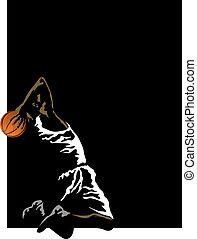 Basketball Slam on black