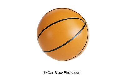 basketball spinning on its axis