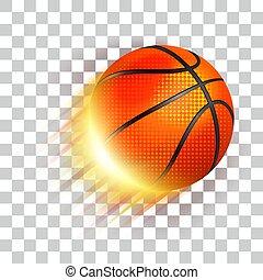 Basketball sport ball flying