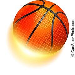 Basketball sport ball in fire