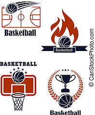 Basketball sport emblems or logos