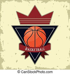 Basketball sport game poster card