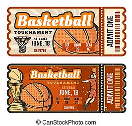 basketball vector ticket templates colorful vector. Black Bedroom Furniture Sets. Home Design Ideas