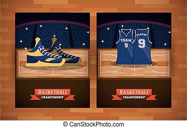 Basketball sport set of cards