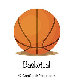 Basketball sports game ball, vector illustration