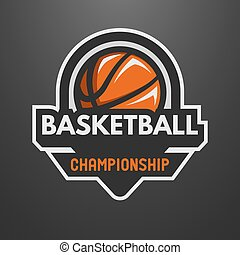 Basketball sports logo, label, emblem.