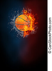 Basketball sports tournament modern poster template. High...