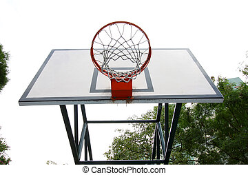 Basketball stand with net