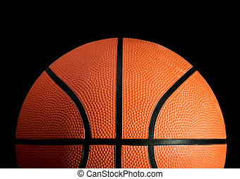 Basketball - Stock image of basketball over black background