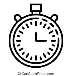 Basketball stopwatch icon, outline style