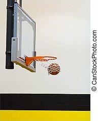 Basketball Swish - Ball swishes through the hoop