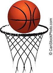 Basketball symbol logo