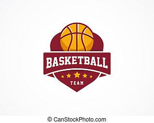 basketball, symbol, sport, amerikanische , logo, ikone