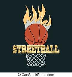 Basketball t-shirt - vector illustration