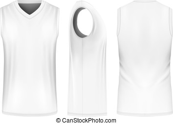 Basketball tank top. - Basketball tank top, front, back and...