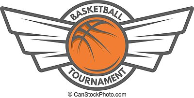 Basketball template. Logo badge emblem.