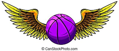 Basketball Template with Wings vector illustration graphic