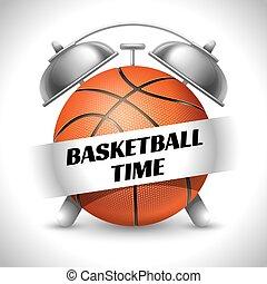 Basketball Time. Concept on Sport Basketball Theme. Time to...