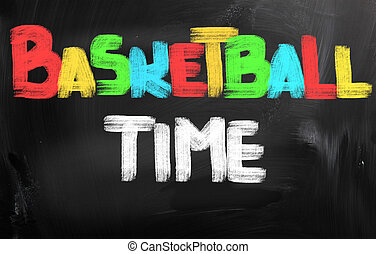 Basketball Time Concept