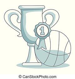 Basketball tournament cup