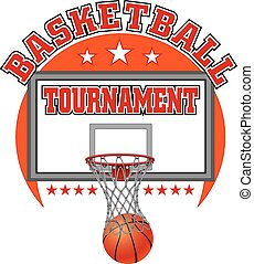 Basketball Tournament Design - Illustration of a basketball...