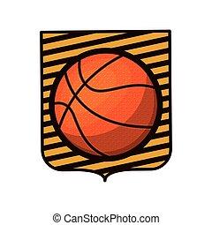basketball tournament emblem with ball