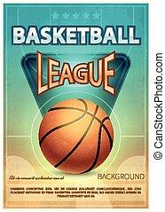 Basketball tournament sports vector poster. Basketball game...