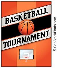 Basketball Tournamet Flyer Poster Illustration