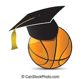 Basketball training school illustration design over white