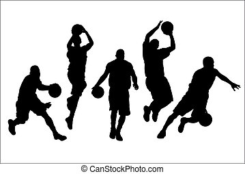 Basketball - Vector illustration of basketball players