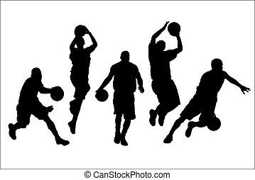 Basketball - Vector illustration of basketball players