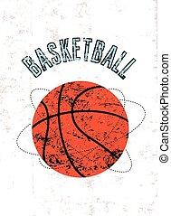 Basketball vintage grunge poster.
