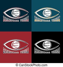 basketball vision vector design template