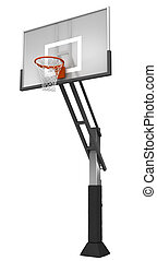Basketball with net