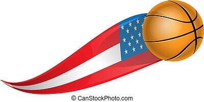basketball with shape flag usa