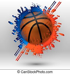 basketball with spots - Basketball ball with spots, vector...