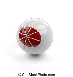 Basketball with the flag of Japan