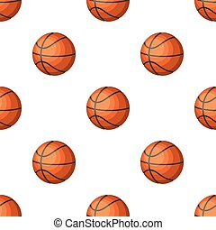 Basketball.Basketball pattern icon in cartoon style vector symbol stock illustration web.