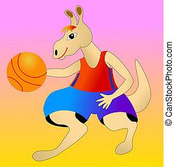 Basketballer kangaroo